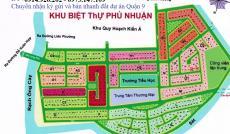 Cần bán nhanh đất nền biệt thự Phú Nhuận, Quận 9, giá tốt nhất chỉ 17tr/m2