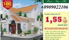 Biệt thự góc 2 mặt tiền, sổ hồng riêng, giáp Nguyễn Oanh, Gò Vấp, chỉ cần 1.55 tỷ