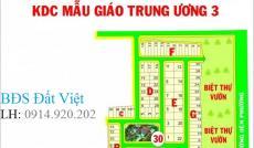 Bán gấp lô đất nhà phố dự án Mẫu Giáo Trung Ương 3, Phú Hữu, Q.9. Sổ đỏ, giá 22tr/m2