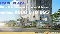Bán văn phòng hạng A Pearl Plaza 176m2 view quận 1 – Hotline: 0908 078 995