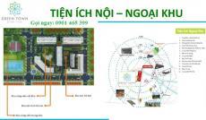Căn hộ Green Town Giá rẻ, đợt 1 ưu đãi TT 50% nhận nhà, chỉ 150 tr sở hữu căn 2PN 2wc liên hệ ngay 0901465399