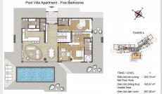 Bán căn hộ Bora Bora Pool Villa B. G. 01, 380.2m2, view sông, 27.37 tỷ chưa CK. LH 0933.520.896