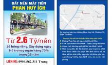 Mở bán đất nền mặt tiền đường Phan Huy Ích, giá từ 2.6 tỷ/lô. Hỗ trợ vay ngân hàng 25 năm