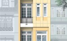 $Cho thuê nhà MT Hoàng Hoa Thám, Q.BT (DT: 7.5x16m, 3 lầu). Giá: 65tr/th