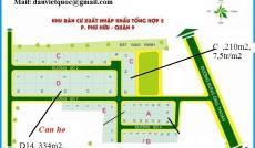 Bán đất nền sổ đỏ dự án Xuất Nhập Khẩu, Quận 9, góc 2MT, giá 23,5tr/m2
