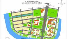 Cần bán gấp 2 lô đất nền dự án khu tái định cư Phú Mỹ, Q7, đường Phạm Hữu Lầu, ngay chợ Phước Long