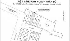 Bán Đất 4.6 tỷ, 4x17.7m HXH Đường Thạch Lam , Phường Phú Thạnh , Quận Tân Phú