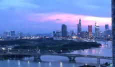 Bán căn hộ Vinhomes Central Park, tầng cao, view sông Sài Gòn, cầu Thủ Thiêm, 106m2, 3PN, 2WC