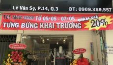 Sang nhượng shop mặt tiền đường Lê Văn Sỹ, Phường 14, Quận 3