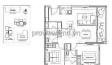 Cần bán căn hộ Gateway Thảo Điền, 2 PN, DT: 89m2, view sông trực diện