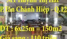 Sang Quán hủ tiếu MT Huỳnh Thị Hai, Tân Chánh Hiệp, Quận 12