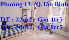 Cho Thuê Phòng Giá Rẻ Phường 13 Quận Tân Bình