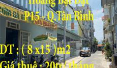 Cho Thuê mặt bằng kinh doanh 2 mặt tiền ở 95/1 Hoàng Bật Đạt, P15, Tân Bình, TP.HCM