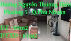 Chính Chủ Bán Nhà 1 trệt 2 lầu  Đường Nguyễn Thượng Hiền, Phường 5, Quận Phú Nhuận, Tp Hồ Chí Minh