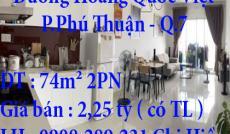Chính Chủ Cần Bán GẤP Căn hộ DT : 74m² 2PN ở 15, 15 Đường Hoàng Quốc Việt, Phường Phú Thuận, Quận