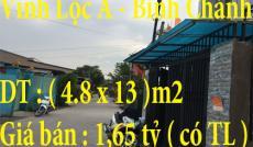 Bán nhà đẹp 1T1L khu vực Vĩnh Lộc A, Bình Chánh giá cực hấp dẫn