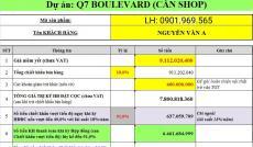 Giảm gần 2 tỷ đồng cho 1 căn Shophoue ngay Quận 7. Mua kinh doanh được ngay